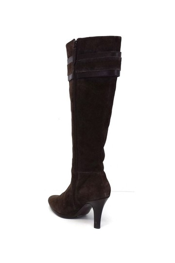 Cole Haan Nicole Suede Knee High W/ Gold Buckles brown Boots Image 2
