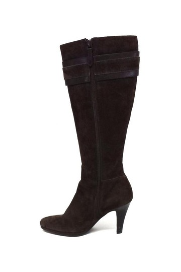 Cole Haan Nicole Suede Knee High W/ Gold Buckles brown Boots Image 3