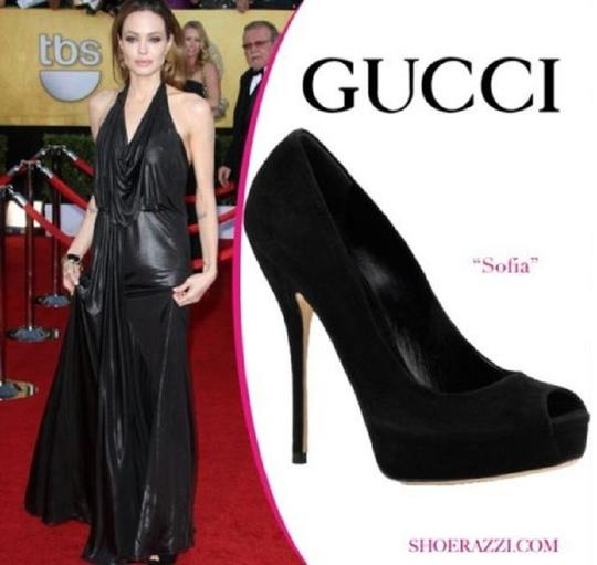Gucci Sofia Hand-stitched Leather Green Platforms Image 7