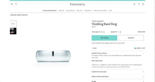 Tiffany & Co. Classic Lucida Wedding Engagement Eternity Band Ring 6mm Image 4