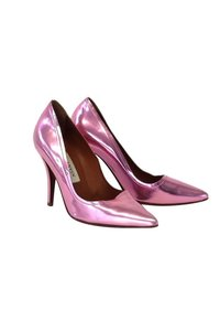 Lanvin Metallic Leather Pointed pink Pumps
