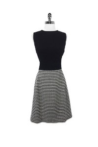 Ralph Lauren short dress black Wool Cashmere Houndstooth Sheath on Tradesy