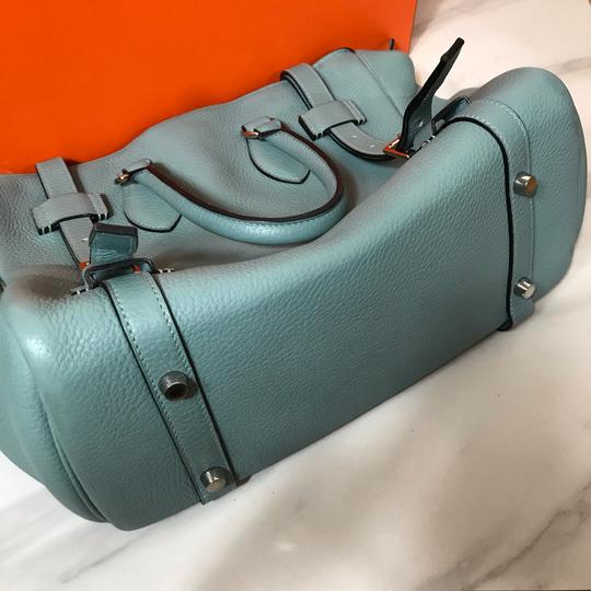 Hermès Pursangle 31 Styled By Blank Satchel in blue Image 9