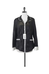 Johnny Florence Leather W/ White Trim black Jacket