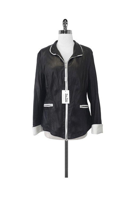 Johnny Florence Leather W/ White Trim black Jacket Image 0