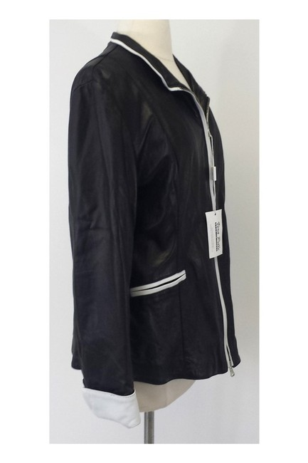 Johnny Florence Leather W/ White Trim black Jacket Image 1