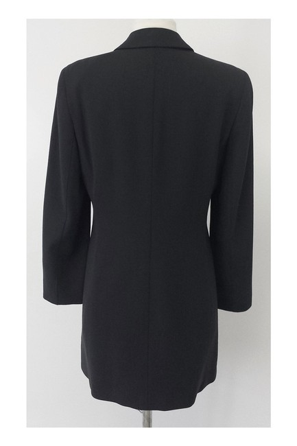 Calvin Klein Collection Dark Gray Wool Long Blazer Image 2