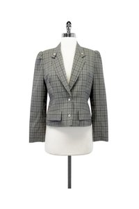 Dior Gray Plaid Wool Cropped Jacket