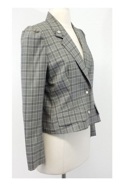 Dior Gray Plaid Wool Cropped Jacket Image 1
