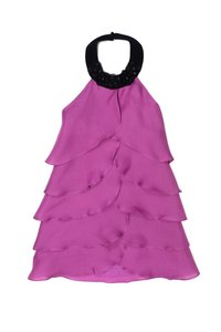 Thread Social short dress pink Magenta Silk Gauze Tiered Halter on Tradesy