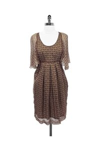 Development by Erica Davies short dress brown Print Silk Flutter Sleeve on Tradesy