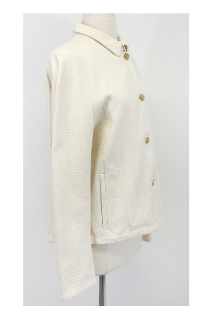 Burberry Cream Cotton Linen Reversible Jacket Image 1