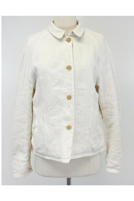 Burberry Cream Cotton Linen Reversible Jacket Image 2