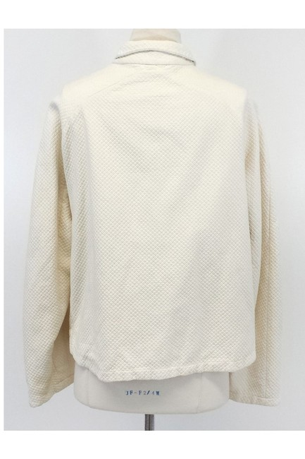 Burberry Cream Cotton Linen Reversible Jacket Image 3