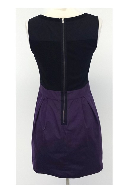 Theory short dress purple Black Wool Blend Sleeveless Aline on Tradesy Image 2