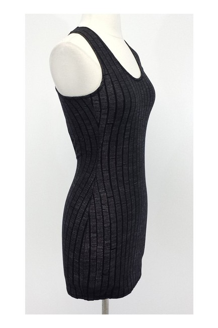 Ksubi short dress Black Metallic Gray Textured Cross Back Mini on Tradesy Image 1