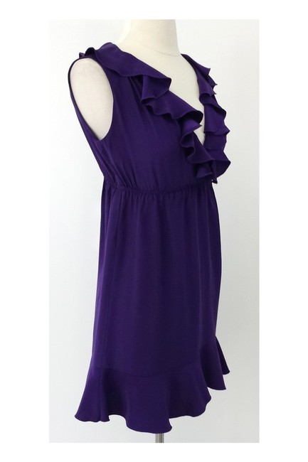 Amanda Uprichard short dress purple Silk Ruffled on Tradesy Image 1