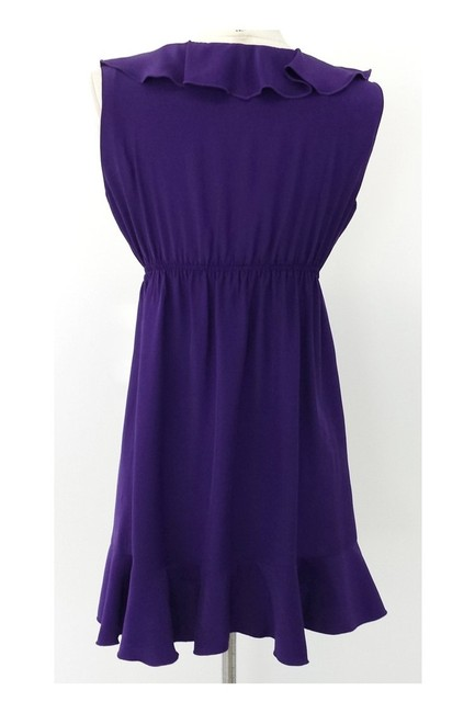 Amanda Uprichard short dress purple Silk Ruffled on Tradesy Image 2