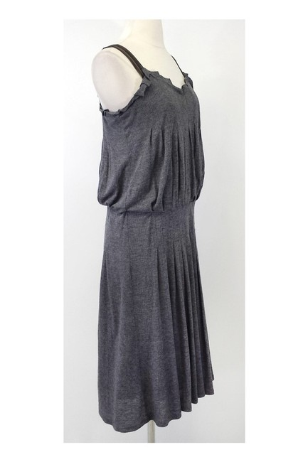 BCBGMAXAZRIA short dress Max Azria Gray Wool Blend Ribbed Knit on Tradesy Image 1