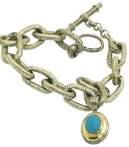 Konstantino Konstantino Sterling Silver & 18k Yellow Gold With Turquoise Bracelet