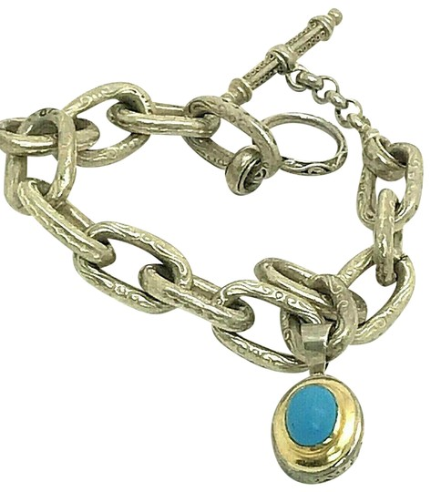Preload https://img-static.tradesy.com/item/25195272/konstantino-gold-and-silver-sterling-18k-yellow-with-turquoise-bracelet-0-1-540-540.jpg