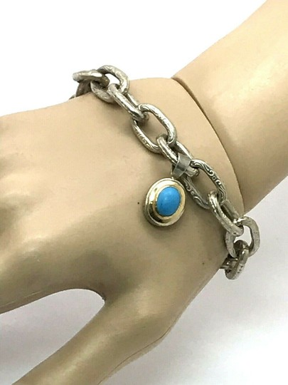 Konstantino Konstantino Sterling Silver & 18k Yellow Gold With Turquoise Bracelet Image 1