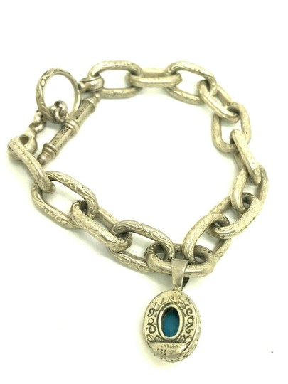 Konstantino Konstantino Sterling Silver & 18k Yellow Gold With Turquoise Bracelet Image 7