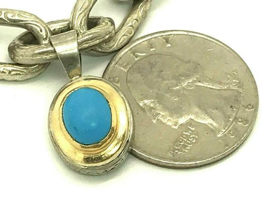 Konstantino Konstantino Sterling Silver & 18k Yellow Gold With Turquoise Bracelet Image 8
