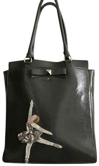 Preload https://img-static.tradesy.com/item/25195275/kate-spade-tote-embellished-with-ballerina-patch-grey-patent-leather-shoulder-bag-0-1-540-540.jpg
