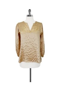 cb8a5cb2e26f1b Tucker Metallic Silk Dot Print Top gold