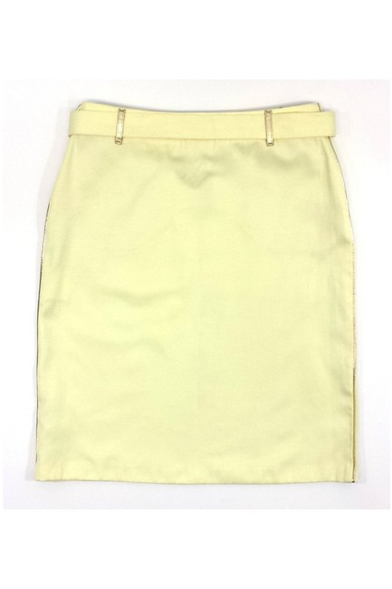 Fendi Cotton Blend W/ Gold Buckle And Trim Skirt yellow Image 1
