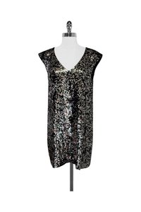 French Connection short dress silver Green Sequin Shift on Tradesy