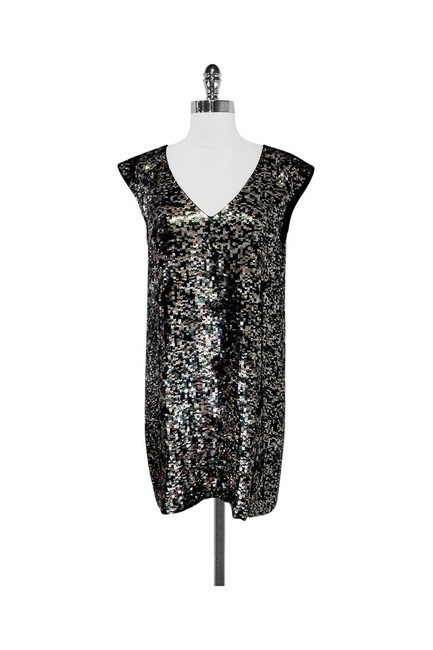French Connection short dress silver Green Sequin Shift on Tradesy Image 2