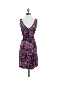 Frock! By Tracy Reese short dress pink Print Wool Silk Blend Belted on Tradesy