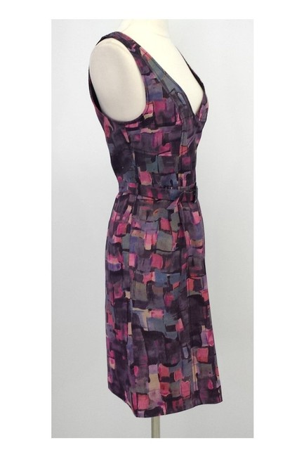Frock! By Tracy Reese short dress pink Print Wool Silk Blend Belted on Tradesy Image 1