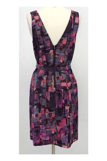 Frock! By Tracy Reese short dress pink Print Wool Silk Blend Belted on Tradesy Image 2
