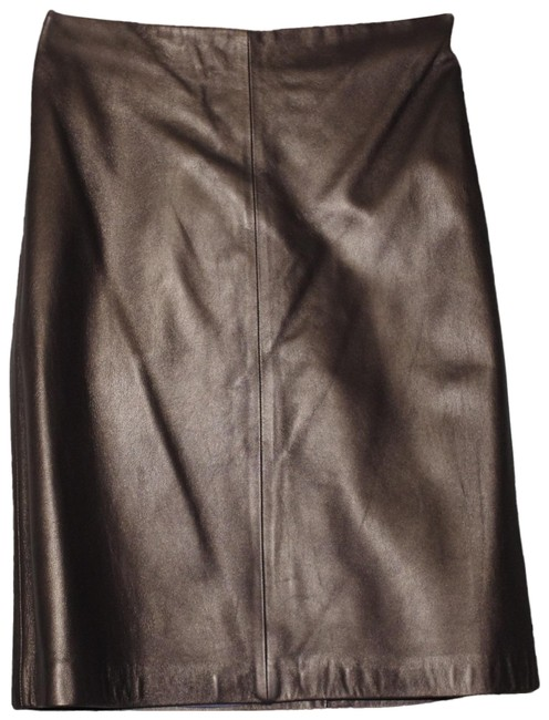 Preload https://img-static.tradesy.com/item/25195357/ann-taylor-brown-bronze-leather-pencil-skirt-size-6-s-28-0-1-650-650.jpg