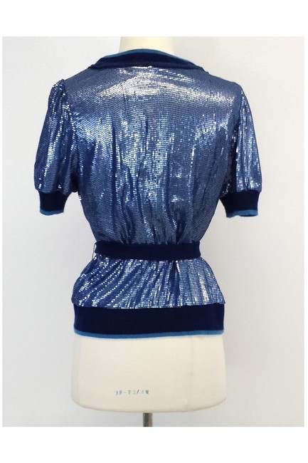 Robert Rodriguez Silk Cashmere Blend Sequined Sweater Image 2