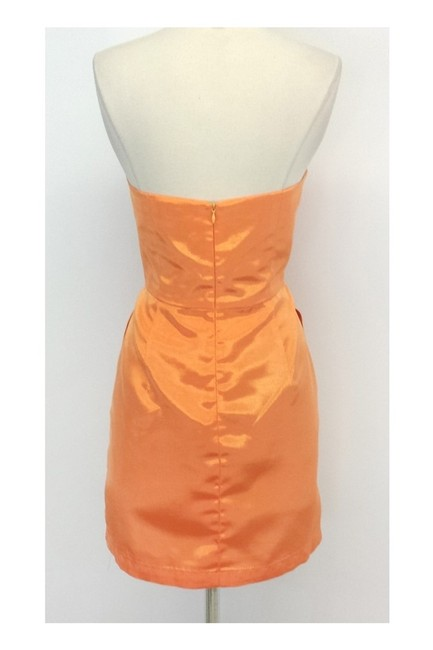 Shoshanna short dress orange Strapless Pleat In Sherbert on Tradesy Image 2