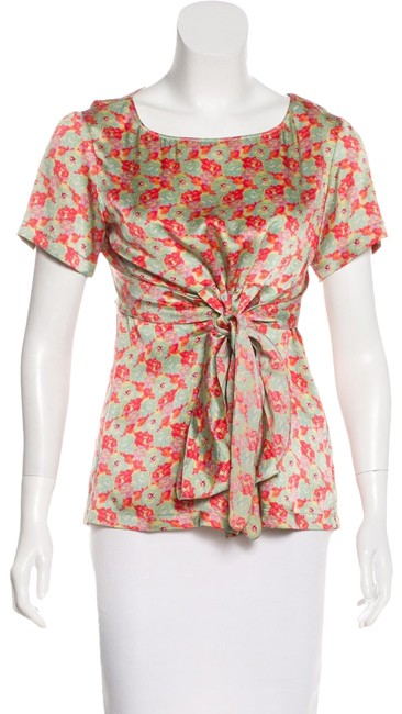 Preload https://img-static.tradesy.com/item/25195406/suno-pink-green-floral-silk-blouse-size-2-xs-0-2-650-650.jpg