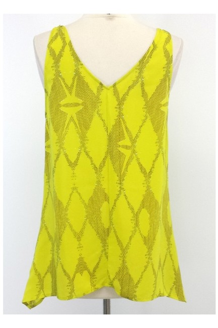 Twelfth St. by Cynthia Vincent Print Silk Top yellow Image 2