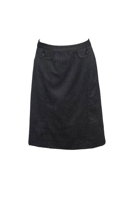 Trina Turk Wool Silk Blend Pencil Skirt gray Image 0