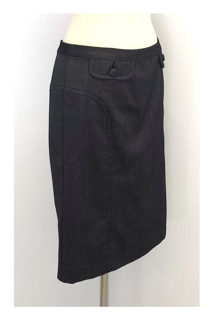 Trina Turk Wool Silk Blend Pencil Skirt gray Image 1