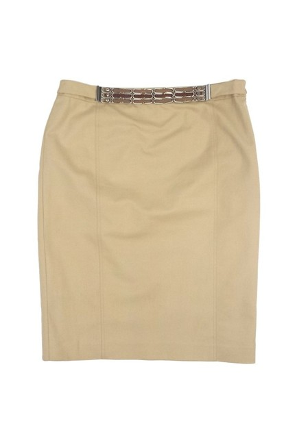 Ralph Lauren Cotton Belted Pencil Skirt Khaki/Chino Pants Image 0