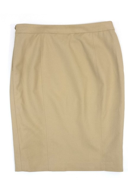 Ralph Lauren Cotton Belted Pencil Skirt Khaki/Chino Pants Image 1