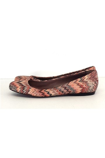Missoni Coral Black Chevron Print red Flats Image 2
