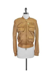 Dsquared2 Leather Moto tan Jacket