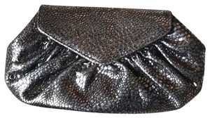 Lauren Merkin Metallic Silver Clutch