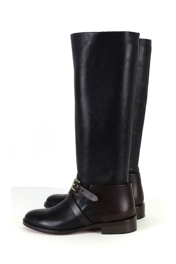 Mulberry Brown Leather Riding Black Boots Image 1