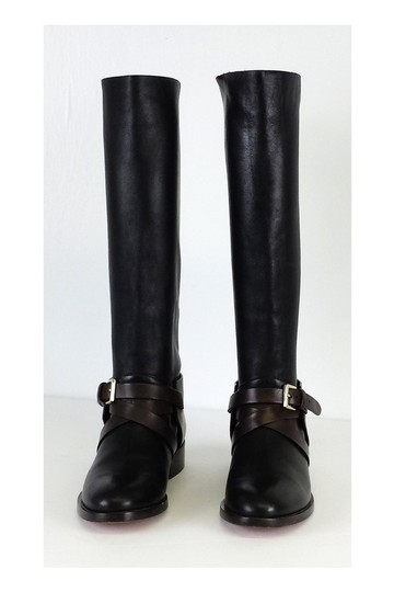 Mulberry Brown Leather Riding Black Boots Image 2
